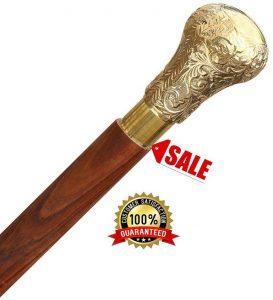 bastone-con-pomolo-oro-india