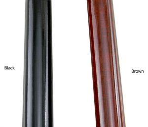 Colore nero o marrone noce per il bastone da passeggio classico