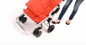 Carrello spesa anziani con ruote piroettanti