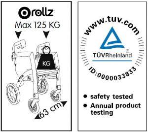 Certificazioni e garanzia deambulatore Rollz