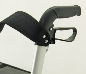 Dettaglio sistema frenante deambulatore Z-Tec UK Walker