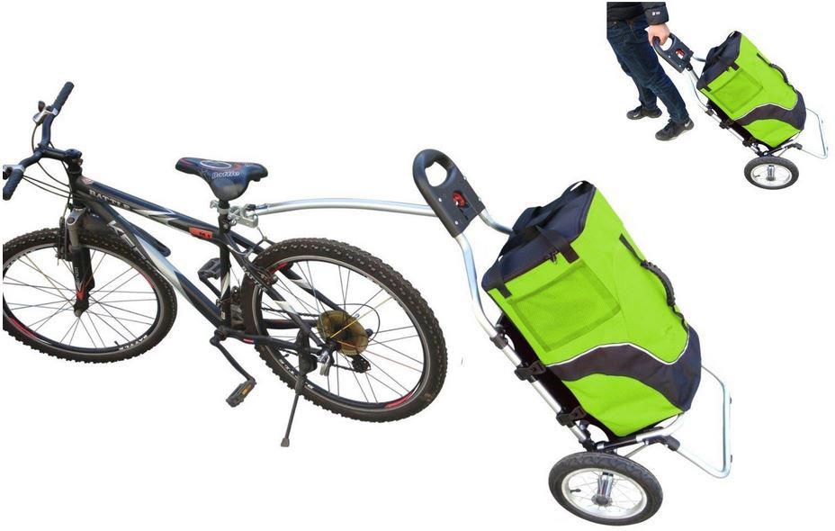Trolley rimorchio per bici il top - Carrello per bici porta cani ...