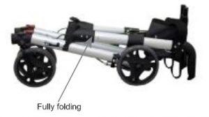 Z-Tec UK Walker rollator pieghevole e compatto