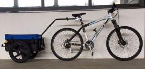 Rimorchio bicicletta attacco sottosella Duramaxx