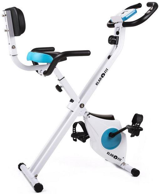Cyclette pieghevole da casa + schienale e supporto tablet – Klarfit Azura