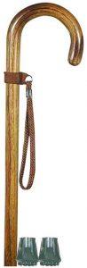 Bastone in legno da donna manico curvo somerset