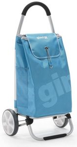 Carrello spesa Gimi Galaxy ruote grandi azzurro
