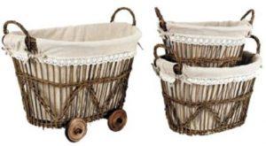 Cesta trolley lavanderia provenzale