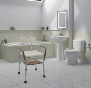 Sedia da doccia con schienale Cablematic