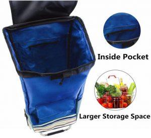 Tasca interna carrello spesa pieghevole 3 tasche