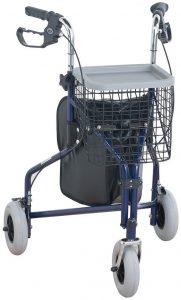 Deambulatore tre ruote blu Healthcare