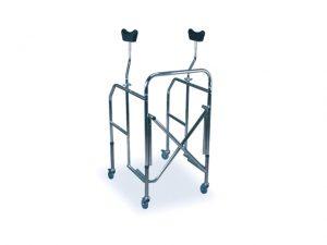 Deambulatore ascellare pieghevole con sedile
