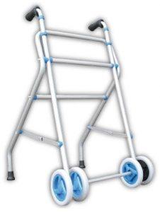 Deambulatore larghezza 50 cm doppie ruote