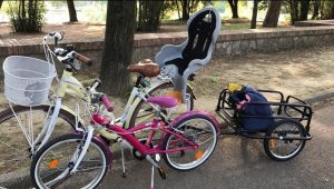 Rimorchio per bici per viaggio e lavoro