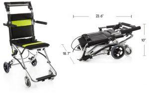 Carrozzina da viaggio per disabili comoda