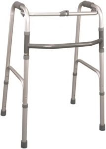 Deambulatore pieghevole 4 puntali 4 gambe fisse Mopedia