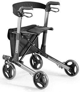 Deambulatore pieghevole leggero rollator passeggio