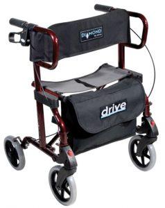 Deambulatore trasformabile in carrozzina Diamond Deluxe Rollator