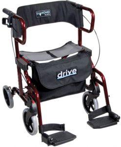 Deambulatore trasformabile in sedia a rotelle deluxe