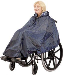 Poncho impermeabile antipioggia per sedia a rotelle