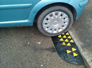 Rampa gomma per auto accesso carrabile