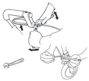 Regolazione dei freni Rollator Dolomite