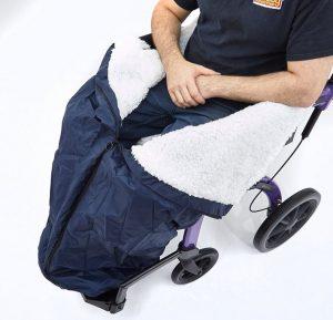 Sacco a pelo pieghevole per sedia a rotelle