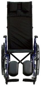 Sedia a rotelle con schienale reclinabile avanti