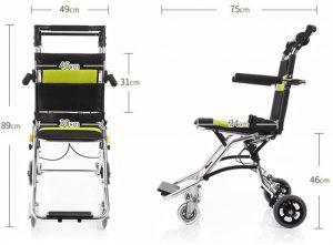 Sedia a rotelle da viaggio misure design