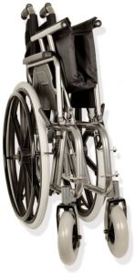 Sedia a rotelle extralarge pieghevole Gima