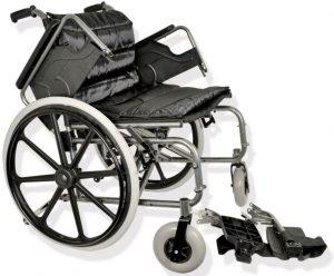 Sedia a rotelle larga braccioli estraibili