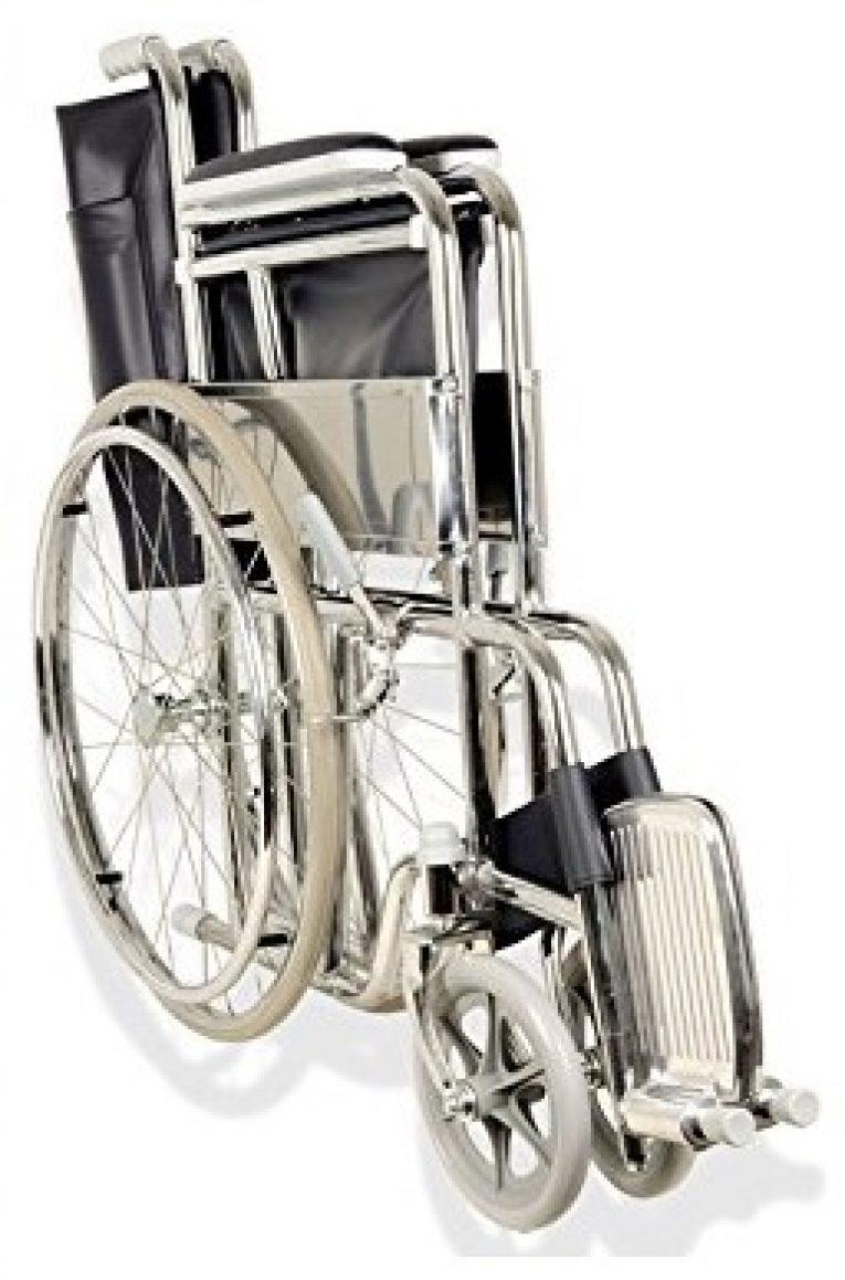 Sedia a rotelle pieghevole anziani disabili Gima ...