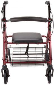 Deambulatore rollator per anziani e disabili cestello spesa