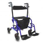 Deambulatore trasformabile in Sedia a rotelle - Rollator Mobiclinic