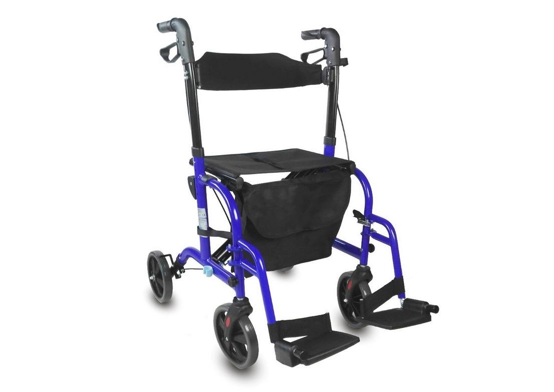 Deambulatore trasformabile in sedia a rotelle – Rollator