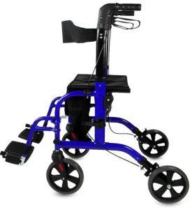 Deambulatore trasformabile in sedia a rotelle - Rollator modello stretto
