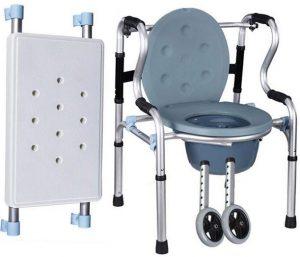 Deambulatore 2 ruote trasformabile in wc portatile