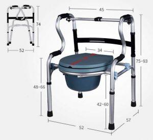Deambulatore comoda misure wc portatile