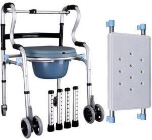Deambulatore comoda wc con ruote e sedile