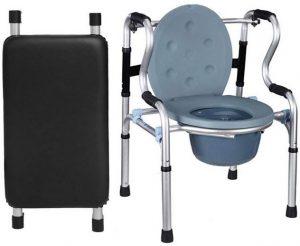 Deambulatore gambe fisse e toilette portatile