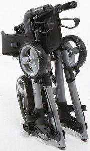 Deambulatore pieghevole con 4 ruote e freni piccolo compatto