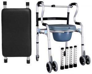 Deambulatore trasformabile in comoda e sedia da doccia