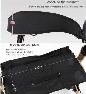 Deambulatore ultraleggero con sedile