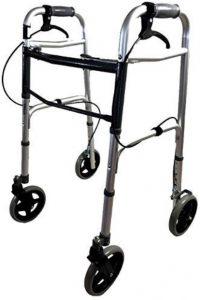 Deambulatore ultraleggero pieghevole con freni di sicurezza anziani