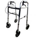 Deambulatore ultraleggero pieghevole con freni di sicurezza disabili