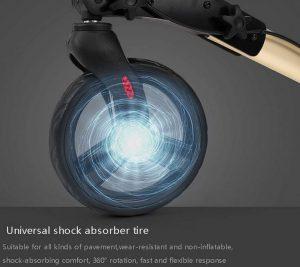 Deambulatore ultraleggero ruote con freni