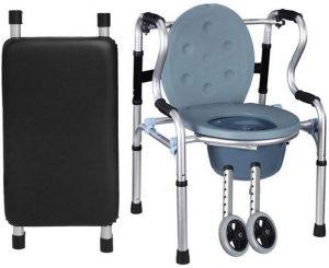 Girello comoda water con 2 ruote e sedia