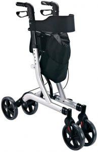 Homcom deambulatore leggero per disabili pieghevole