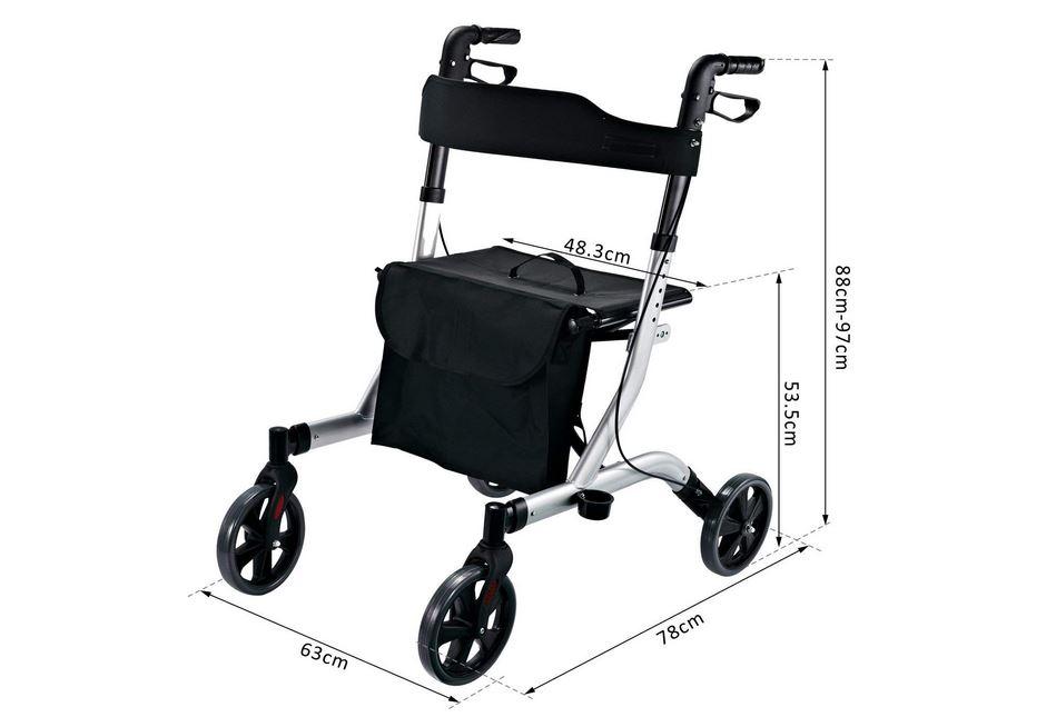 Homcom deambulatore leggero per disabili