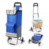 Carrello spesa pieghevole 3 ruote per scale – un 2 in 1 perfetto!